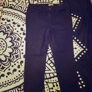 Black High Rose Skinny